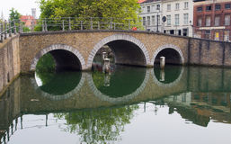 The bridge in Bruges Royalty Free Stock Photos