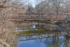 Bridge at Brushy Creek Regional Trail Royalty Free Stock Photo