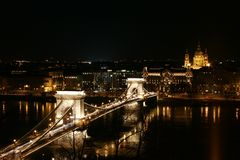 Bridge in Budapest Stock Photography