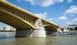 Bridge in Budapest. Bridge over the river of Danube in Budapest Stock Photo