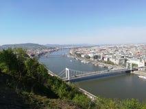 The bridge of Budapest stock photo