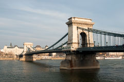 Bridge in Budapest, Hungary Royalty Free Stock Images
