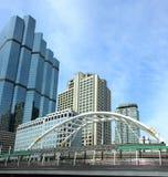 Bridge and building in Bangkok Stock Images