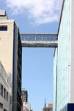Bridge between buildings Royalty Free Stock Photography