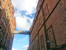 Bridge between buildings of the Guinness beer factory buildings in Dublin Ireland Royalty Free Stock Images