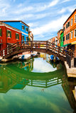 Bridge In Burano, Italy Royalty Free Stock Images