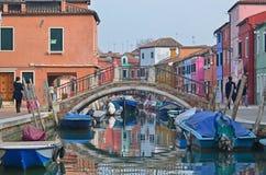 Bridge in Burano Stock Photos