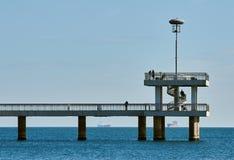 Bridge in Burgas. black sea Stock Photography