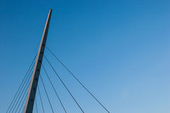 Bridge Cable. The end of bridge pole structure with cable stand into the sky Stock Image