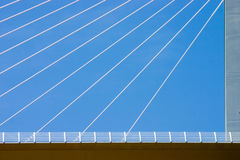 Bridge cables. Close-up of the Millau viaduct cables Stock Photography