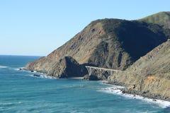 A bridge at california coast Royalty Free Stock Photos