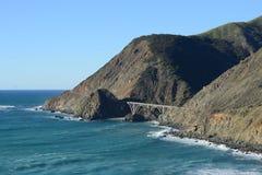 A bridge at california coast Stock Images
