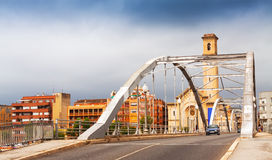 Bridge called Pont de l'Estat over Ebre Stock Images