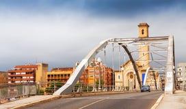 Bridge called Pont de l'Estat over Ebre Stock Images