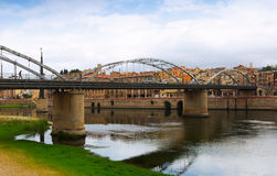 Bridge called Pont de l'Estat over Ebre  in Tortosa Stock Image