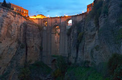 Bridge called Puente Nuevo   in early morning at Ronda Stock Photography
