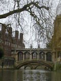 Bridge in Cambridge England Royalty Free Stock Images