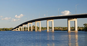 Bridge in Canada. This bridge spans the Bay of Quinte, Ontario in Canada. The Bay of Quinte is a long, narrow bay shaped like the letter Z on the northern shore Stock Photography