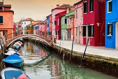Burano island view Royalty Free Stock Images