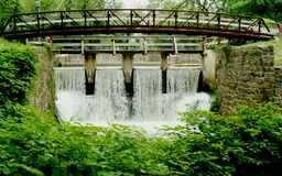 Bridge of a canal spillway Royalty Free Stock Photography