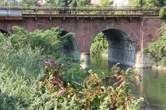 Bridge, Canal Villoresi Italy Royalty Free Stock Images