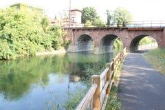 Bridge, Canal Villoresi Italy Royalty Free Stock Photos