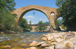Bridge of Cangas de Onis Stock Image