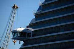 Bridge of captain on cruise ship Royalty Free Stock Image