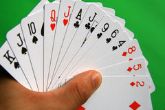 Bridge cards stock image