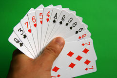 Bridge cards royalty free stock photos