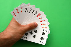 Bridge cards stock images