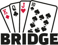 Bridge cards Royalty Free Stock Images