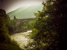 Bridge in a Carpathians Royalty Free Stock Photos