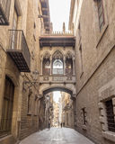 Bridge at Carrer del Bisbe Stock Photo