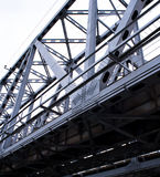 The bridge for cars Metal structure against the sky Stock Photo