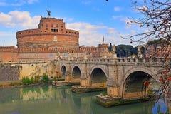 Bridge and Castel Sant`Angelo, Rome, Italy Royalty Free Stock Photo
