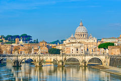 Bridge of Castel St. Angelo Royalty Free Stock Images