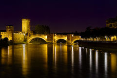 Bridge of castelvecchio Royalty Free Stock Photos