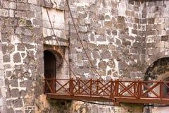 Bridge of Castillo de la Real Fuerza, Havana, Cuba. Copy space. Stock Images
