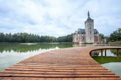 An bridge and the castle from Horst Royalty Free Stock Photography