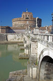 Bridge and Castle of Saint Angelo Stock Image