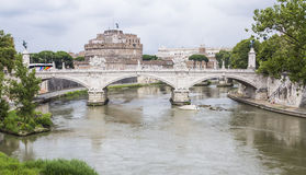 Bridge and Castle Saint Angelo Royalty Free Stock Photo