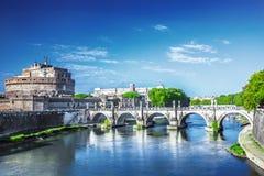 Bridge and castle Sant Angelo Royalty Free Stock Photo