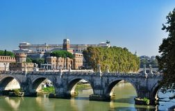 Bridge and castle Sant Angelo, Rome Italy Royalty Free Stock Image