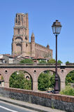 Bridge and cathedral at Albi in France Stock Photos