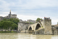Bridge and Cathedral, Avignon, France Royalty Free Stock Images