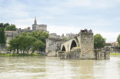 Bridge and Cathedral, Avignon, France Stock Photos