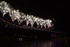 Bridge celebration Stock Photos