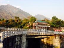 A bridge. Cell phone click bridge Dharmshala Royalty Free Stock Photos