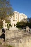 Bridge of Centaurs in Pavlovsk Park. Stock Images